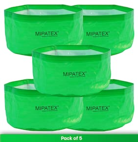 Mipatex Woven Fabric Grow Bags 12in x 6in;Heavy Duty Plant Pot Fruits Vegetable;Terrace Home Kitchen Gardening Bags (Pack of 5)