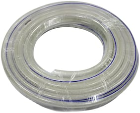 Mitras Multipurpose Hose Transparent 1.27 cm (1/2 inch) (12.5mm ID) Bore Size 17 ft (5 m) - ISI Marked 3 Layered Hose Pipe