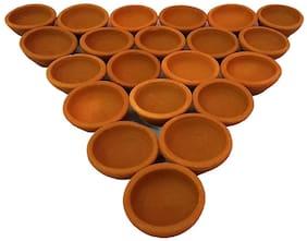 Mitti Diya for Pooja - Set of 21
