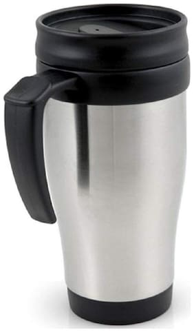 Mixoma Stainless Steel Tea Coffee Mug Vacuum Insulted Cup with Sipper Lid for Traveling, Indoor, and Outdoor (400 ml)