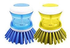 Mixoma Super Sale Cleaning Brush With Liquid Soap Dispenser Self Dispensing Cleaning Brush (Assorted) 2 Pcs.
