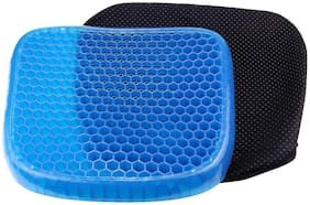 MK Soft Breathable Honeycomb Rubber Gel Flex Silicon Back Support Seat Sitter Pillow/Cushion (Blue)
