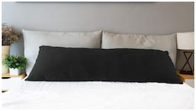 Mom's Moon Ultra Soft Full Body Pillow-Side Sleeping Pillow With Removable Cotton Cover - Oversized-54x20 Inch (Grey)