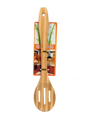 Monet round wooden slotted strip spetula 1 Pc.