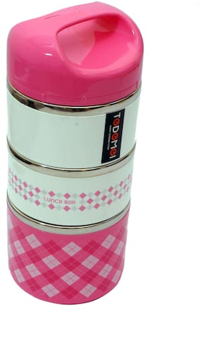 Monet 3 Containers Stainless steel Lunch Box - Assorted