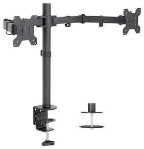 Monitor Desk Mount Stand Lcd 27 Arm Adjustable Dual Single Up Computer Screens