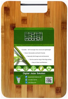 Moongil Cutting and Chopping Bamboo Wood board best for vegetable and meat cutting- Steel Handle