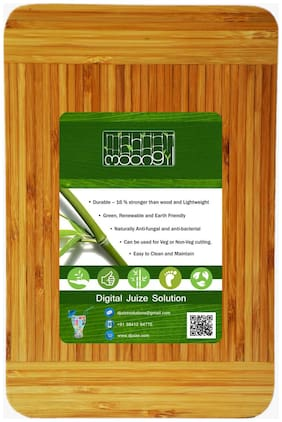 Moongil Cutting and Chopping Bamboo Wood board best for vegetable and meat cutting-Two color Full Piece