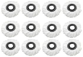 Mop Refill , Mop Replacement Head ( Set Of 12) White Color