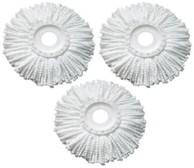 Mop Refill or Heads, Head Refill for Rotating Spin Mop Cleaner Cleaning Wipe  ( Set of 3)