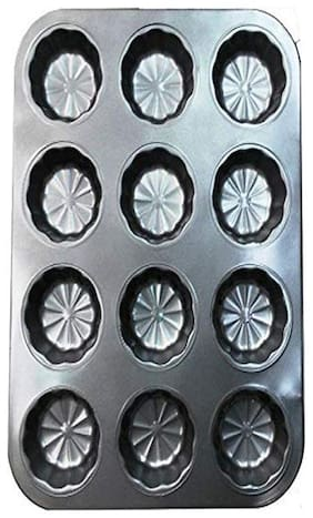 Mopi 12 Cup Cake Mould/ Muffin Tray  (Pack of 1)