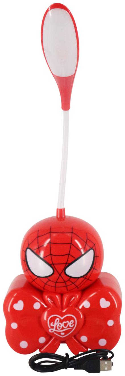 Mopi 2 in 1 LED Night/Study Lamp Spider Printed Lovely lamp  Pack of 1 Red  40cm Height Table Lamp