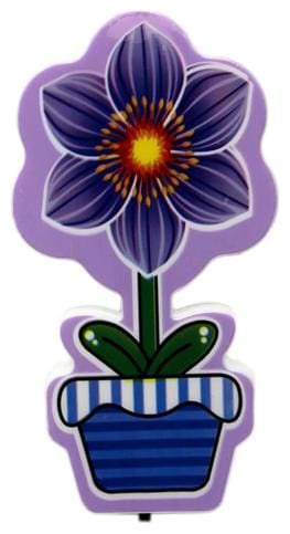 Mopi LED Night Lamp Plug-in Wall Flower - Purple - Kids Room Home Decor Energy Saving (10.5 cm) Night Lamp  (10.5 cm, Purple)