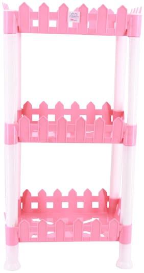 Mopi Plastic Kitchen Shelf/Rack - Disassemble-3 Shelf-pink Plastic Kitchen Rack