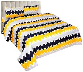 Morado Cotton Geometric Double Size Bedsheet 400 TC ( 1 Bedsheet With 2 Pillow Covers , Multi )