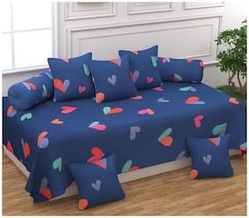 Morado Cotton Printed Single Size Diwan Sets - Pack of 8