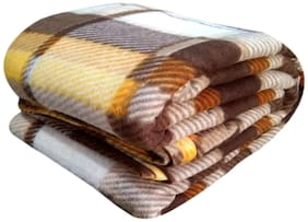 Morado Double Bed Woollen Fabric Quilt Cover / Duvet Cover / Rajai Cover / Blanket Cover For Winters (90X100 Inches;Brown)