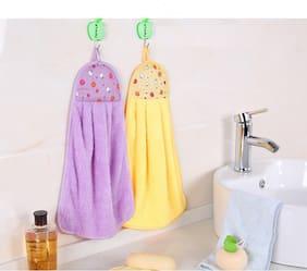 Morado 300 GSM Cotton Hand towel ( 2 pieces , Multi )