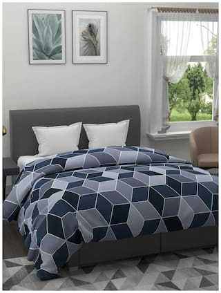Morado Premium Glace Cotton Double Bed King Size Quilt Cover / Duvet Cover / Rajai Cover / Blanket Cover with Zipper