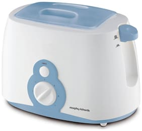 Morphy Richards AT-202 2 Slices Pop-Up Toaster - White & blue