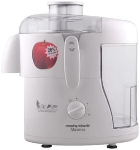 Morphy Richards MAXIMO 450 W Juicer ( White , No Jar )