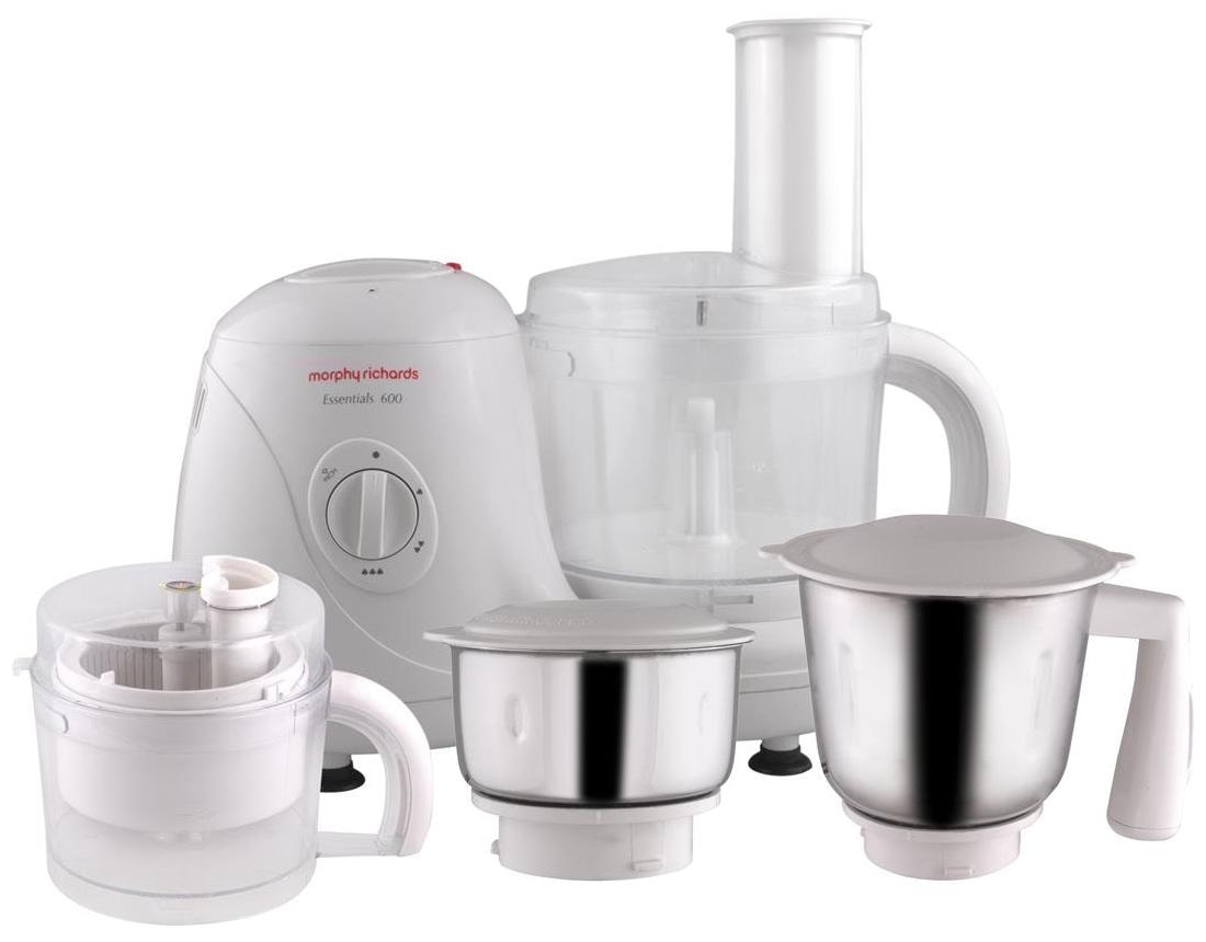Morphy Richards Essentials 600 W Food Processor (White)