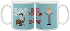Most hardworking and honest Ceramic mug by mugshug