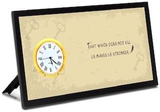 VENTECHNO Pvc Analog Table clock ( Set of 1 )