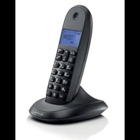 Motorola Cordless Black Phone C1001LBI