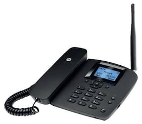 Motorola FW200l Single Sim Corded Landline Phone ( Black )