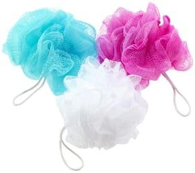 MPI Bath Shower Soft Loofah Sponge Body Scrubber Bath Scrubber - Pack of 3