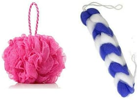 MPI Bath Shower Soft Loofah Sponge Body And Back Scrubber Bath Scrubber - Pack of 2