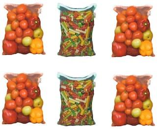 MPI Washable Mesh Fridge Vegetable and Fruit Bag  Set of 6
