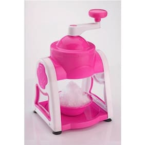 MRT1  Premium Plastic Gola maker / Ice Slush Maker with Unbreakable / Food Grade Plastic Body. Gola Maker Manual Set PINK ( Color May Vary )