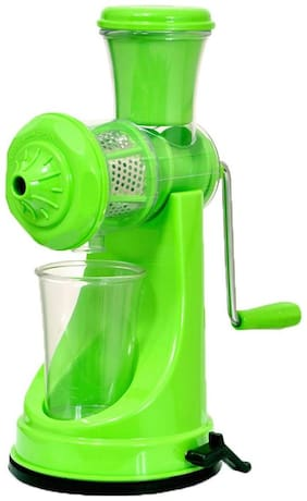 MRT1 Premium Plastic Manual Juicer With Stainless Steel Handle Vegetable Juicer And Fruit Juicer Green