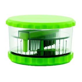 MRT1 Premium Plastic Multi Vegetable Cutter / Garlic Crusher / Onion Chopper / Kitchen Cutter Chopper with Stainless Steel Blades GREEN