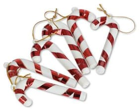 Ms Trading Company Christmas Tree Decoration Hanging Ornaments (Pack Of 6)