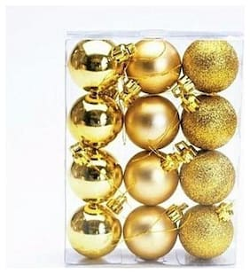 Ms Trading Company Christmas Tree Decoration Hanging Ornaments (Pack Of 12)
