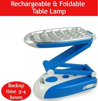 QUXXA 31 LED Folding Rechargeable Lamp Light Foldable Table Study Night (Assorted color)