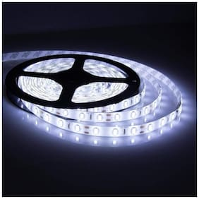 MSTC Christmas Light 5meter 15foots Strip Light Waterproof Dustproof Led Strip Light With Adapter Cool White Color