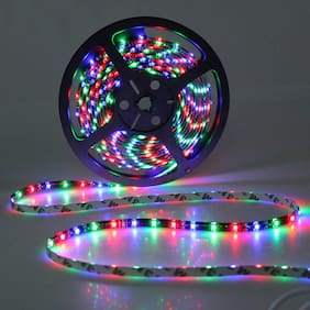 QUXXA 5meter 15foots Strip Light Waterproof Dustproof Led Strip Light With Adapter MultiColor