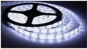 QUXXA 5meter 15foots Strip Light Waterproof Dustproof Led Strip Light With Adapter Cool White Color