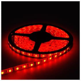QUXXA Christmas Light 5meter 15foots Strip Light Waterproof Dustproof Led Strip Light With Adapter Red Color