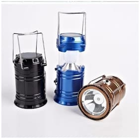 QUXXA Electric & Solar Power Rechargeable Emergency Light Torch (Assorted Color  PACK OF 1)