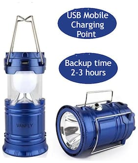 MSTC LED Solar Emergency Light Lantern USB Mobile Charging Torch (Assorted Color, PACK OF 1)