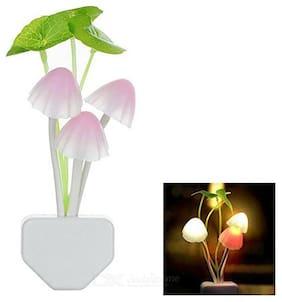 MSTC Light Sensor Color Changing Mushroom Night Lamp
