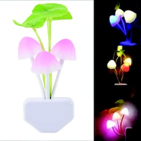 QUXXA Light Sensor Color Changing Mushroom Night Lamp