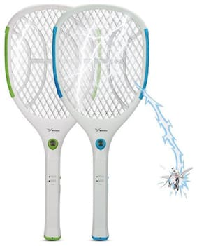 QUXXA Mosquito Killer Rechargeable Racket With LED Torch (Set of 2)