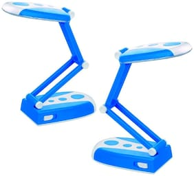 QUXXA RECHARGEABLE LED DESK LAMP WITH 31 SMD LEDs Emergency Light (Colors send as per availability)