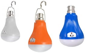 MSTC Rechargeable LED Bulb with Clip-on Hook Bulb Emergency Light (Assorted)